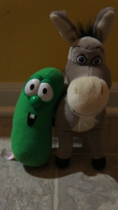 Larry the Cucumber and Donkey